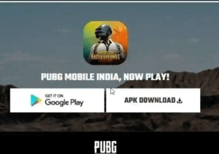 PUBG Mobile India APK Download Link show in Official Website
