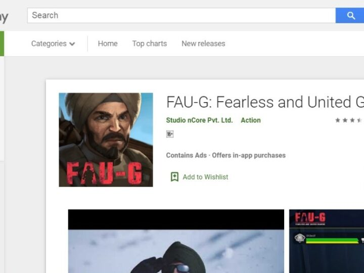 FAU-G Becomes Top Free Game On Google Play Store, Downloads Reached 50 Lakh
