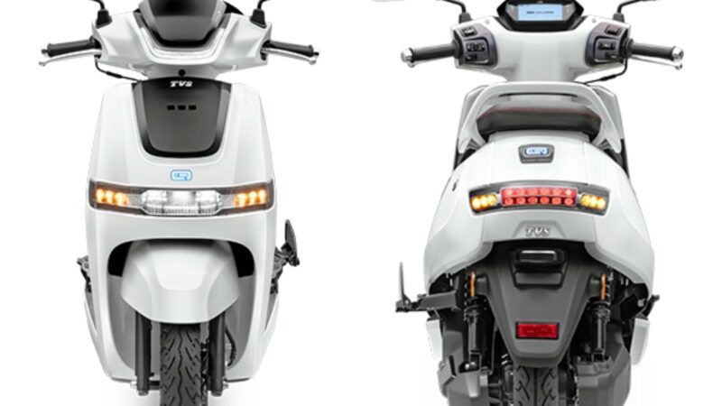 78 km range TVS iQube electric scooter launched in Delhi - Image